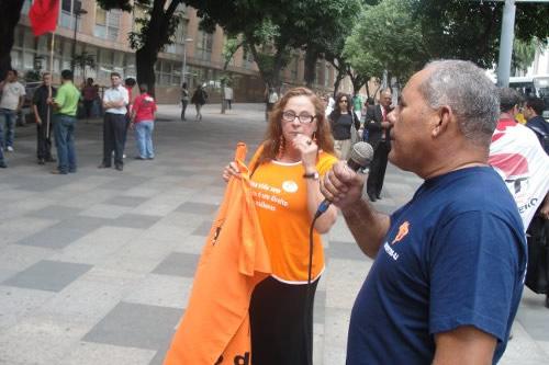 manifestação pelas 40 horas semanais sinpospetro-rj